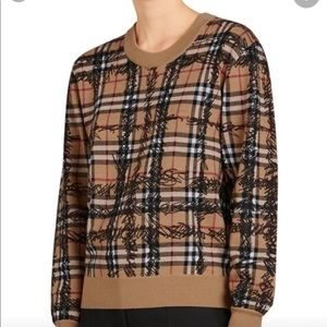 Burberry women's scribble sweater